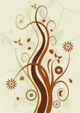 Grunge floral design Stock Images
