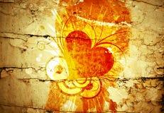 Grunge floral design Royalty Free Stock Image