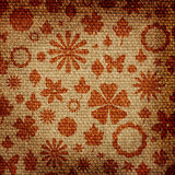 Grunge floral fabric texture Royalty Free Stock Photo
