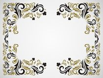Grunge floral frame Royalty Free Stock Photography