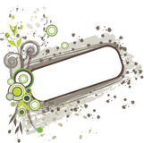 Grunge floral frame. For your design Stock Photography
