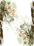 Grunge floral frame. With space for text Royalty Free Stock Photos