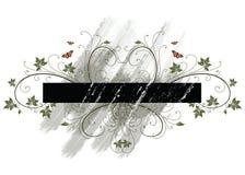 Grunge floral frame Stock Photo