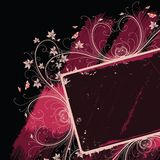 Grunge floral frame Stock Photography