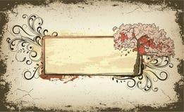 Grunge floral frame Stock Image