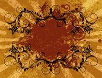 Grunge floral frame Royalty Free Stock Photos