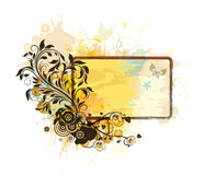 Grunge floral frame Royalty Free Stock Photos