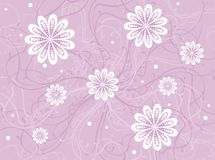 Grunge Floral Frame. Floral background with swirls, leaves and curls Stock Image