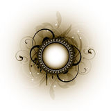 Grunge Floral Frame. An illustration of a round frame on a grunge floral design Royalty Free Stock Photography