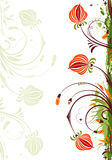 Grunge Floral Frame Royalty Free Stock Image