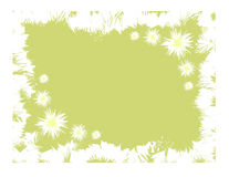 Grunge floral frame. Background Royalty Free Stock Photos