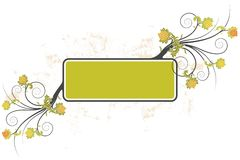 Grunge floral frame background Royalty Free Stock Images