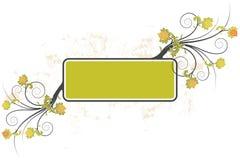 Grunge floral frame background Royalty Free Stock Images