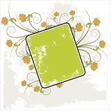Grunge floral frame background Royalty Free Stock Photo