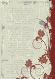 Grunge floral frame background Stock Image