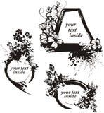 Grunge floral frame series Royalty Free Stock Image