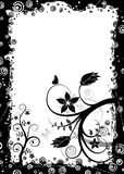 Grunge floral frame, vector. Grunge floral frame with circle and butterfly, vector illustration Stock Photography