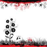 Grunge floral frame, vector Royalty Free Stock Images