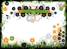 Grunge floral frame, vector Royalty Free Stock Image