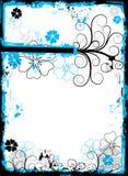 Grunge floral frame, vector Royalty Free Stock Image