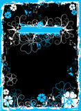 Grunge floral frame, vector Stock Photography