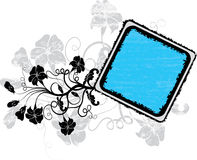 Grunge floral frame, vector Royalty Free Stock Photo