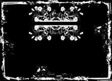Grunge floral frame, vector Stock Images