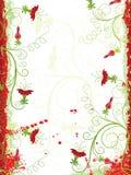 Grunge floral frame, vector Stock Image
