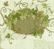 Grunge floral frame. Vector illustration. Stock Photo