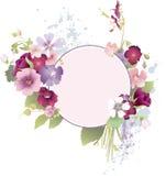 Grunge floral frames Royalty Free Stock Image