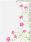 Grunge floral gray background Stock Photography