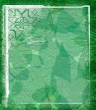 Grunge floral green stock image