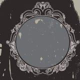 Grunge floral hand drawn frame Stock Image