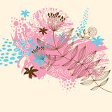 Grunge floral illustration Royalty Free Stock Photography