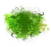 Grunge floral illustration Stock Images