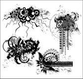 Grunge floral illustration royalty free illustration