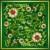Grunge floral ornament on green. Abstract grunge floral ornament on a green background Stock Photos