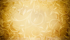 Grunge floral paper background. Royalty Free Stock Photos