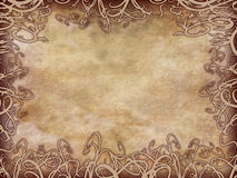Grunge Floral Parchment Frame Royalty Free Stock Photos
