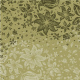 Grunge floral pattern with flowers Stock Photo