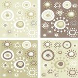 Grunge floral patterns Royalty Free Stock Image