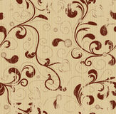 Grunge floral seamless background Stock Image