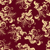 Grunge floral seamless background. Floral seamless background for yours design use. For easy making seamless pattern just drag all group into swatches bar, and Stock Images
