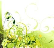 Grunge floral vector stock illustration