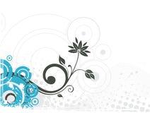 Grunge floral vector royalty free illustration