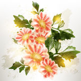 Grunge floral vector background in vintage style Stock Photography