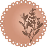 Grunge floral. Vector Illustration Royalty Free Stock Image