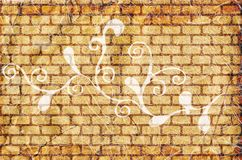 Grunge floral wall Royalty Free Stock Photo