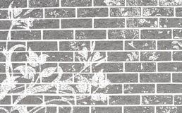 Grunge floral wall Stock Photos