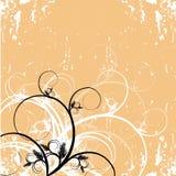 Grunge floral wallpaper Stock Images